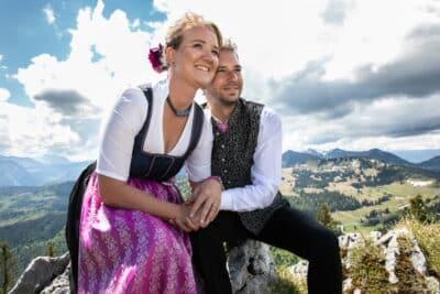 Hochzeitsfotograf Salzburg - Berge und Hochzeit
