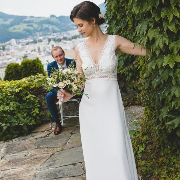 Hochzeitsfotograf Bilder von Salzburg im Schloß Mönchstein